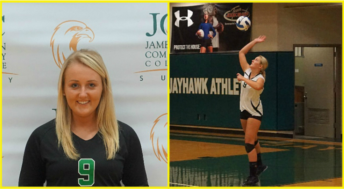 Women's Volleyball player Hannah Vezina Honored