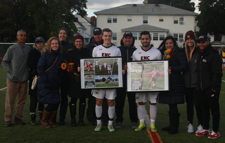 Men's Soccer Downs Lesley on Senior Day, 2-0