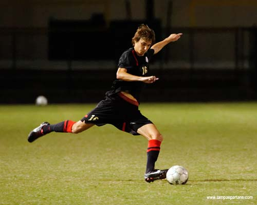Sophomore Andrew Clare recorded his first goal of the season on Saturday night versus Rollins College,
