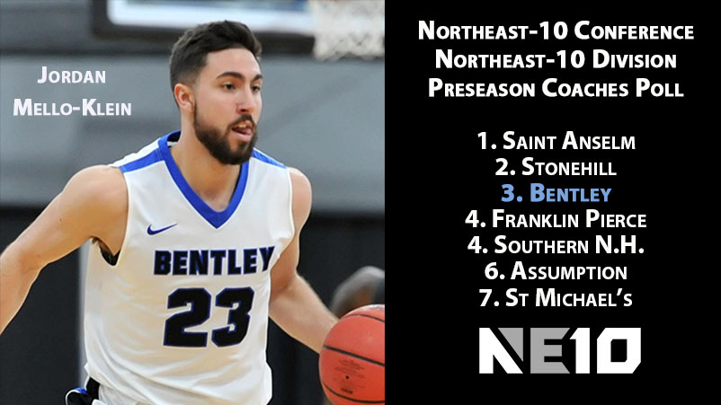 Bentley Listed 3rd in Northeast Division in NE10 Preseason Poll