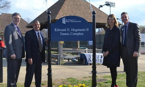 UMW Outdoor Tennis Complex Named for Ed Hegmann in Wednesday Ceremony