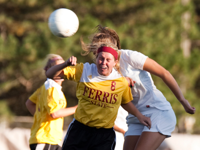 Ferris State Women's Soccer Defeats Saginaw Valley State 2-0