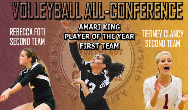 King, Foti and Clancy Earn All-Conference Honors