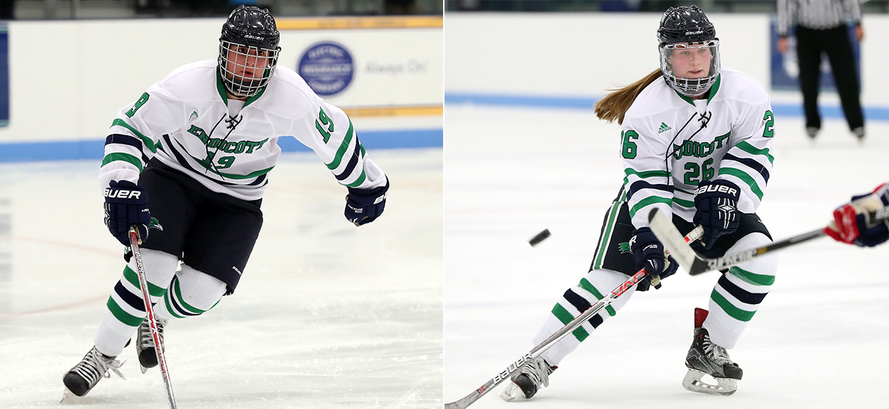 Action photos of Jade Meier and Jillian Gibbs.