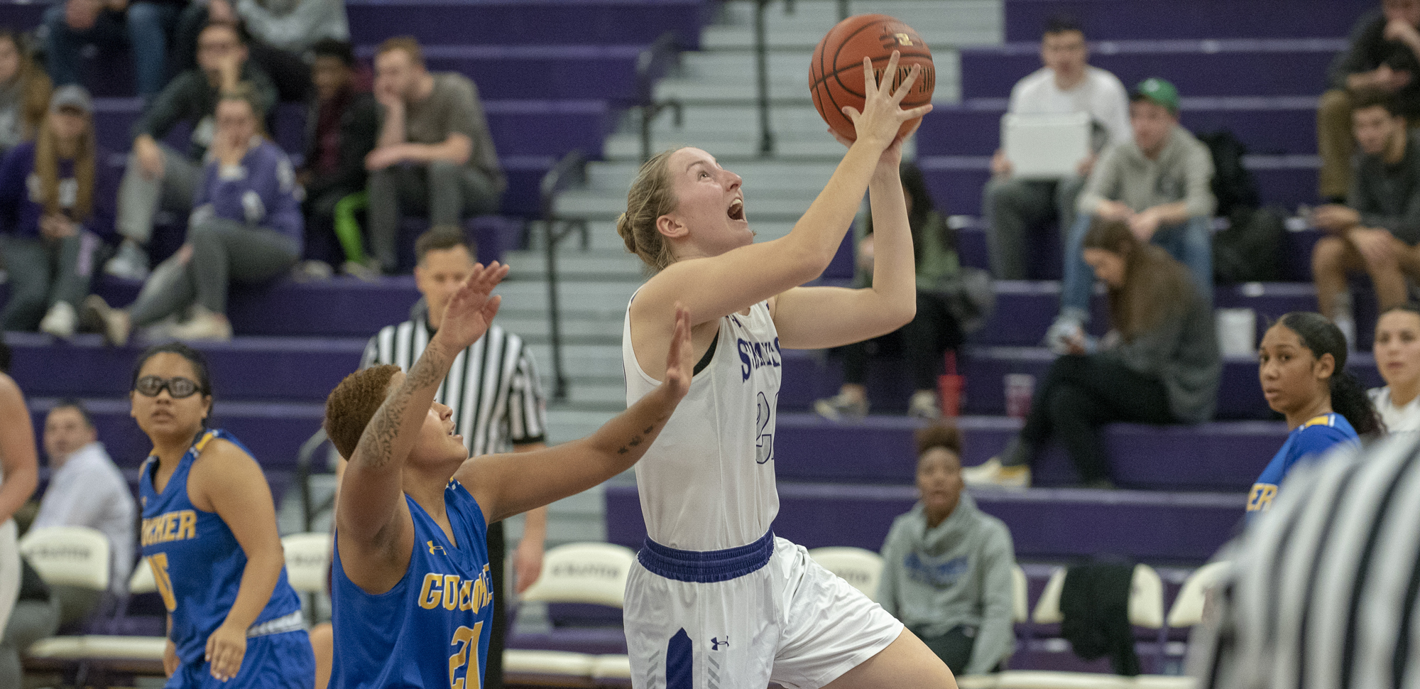 Junior Makenzie Mason recorded her seventh double-double of the year, scoring 19 points and pulling down a career-high 18 rebounds to lead the Lady Royals to a 69-46 win at Goucher Saturday.
