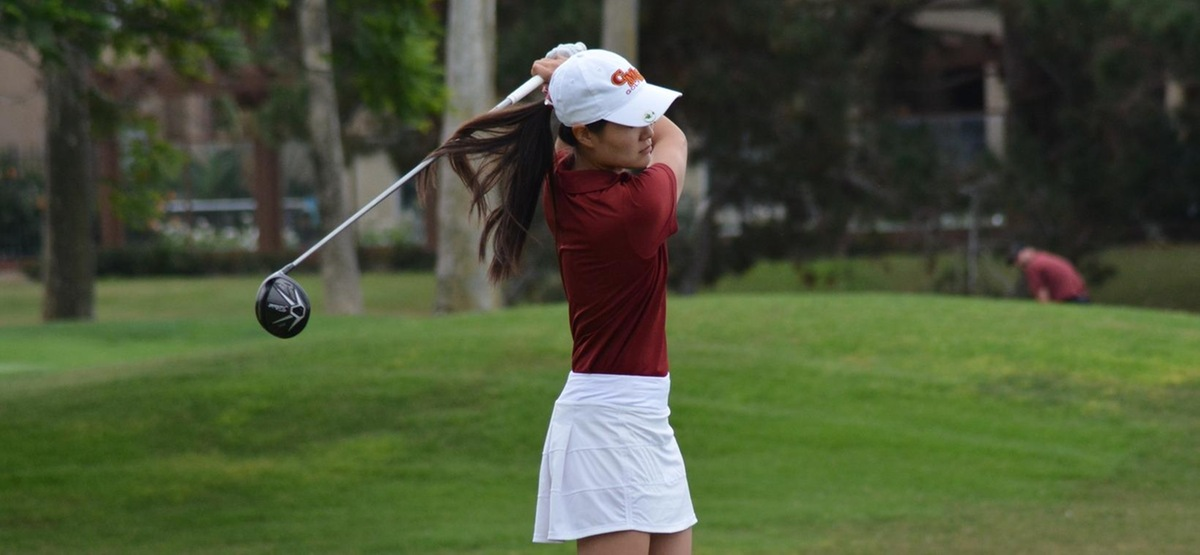 Senior Emma Kang is one of three Athenas tied for eighth place after the first day of the Embry Riddle Invitational