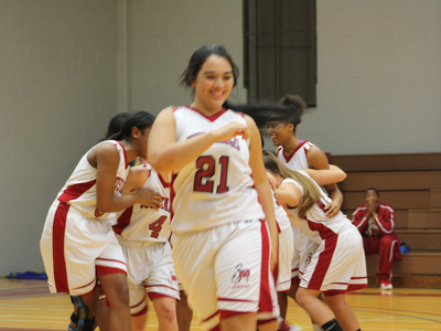 Women's Basketball: Victorious over Phantoms 41-26