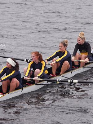 Women's Crew Posts Solid Performance In Collegiate Fours At Head Of The Charles Regatta