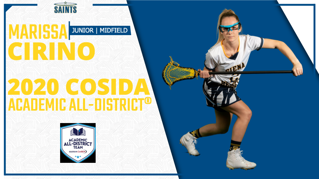 Cirino Named to CoSIDA Academic All-District® Team
