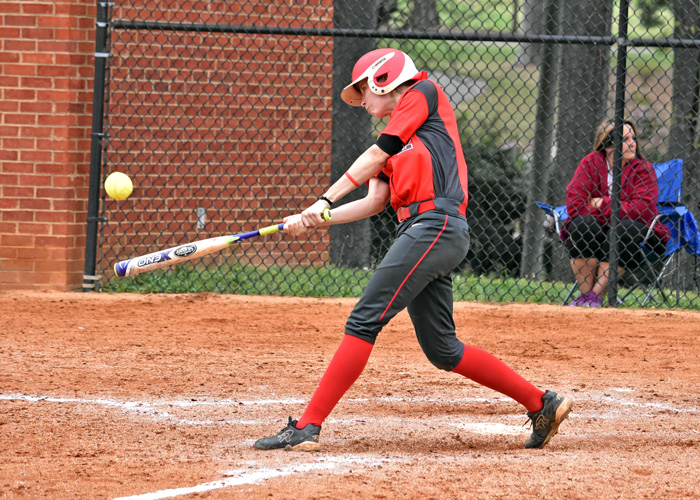 Lindsey Selph hit a two-run home run in Game 1 of Tuesday's doubleheader at ninth-ranked Berry.