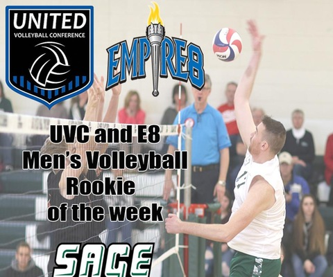 Sanders sweeps Rookie Honors; Earns UVC and Empire 8 Rookie Citations