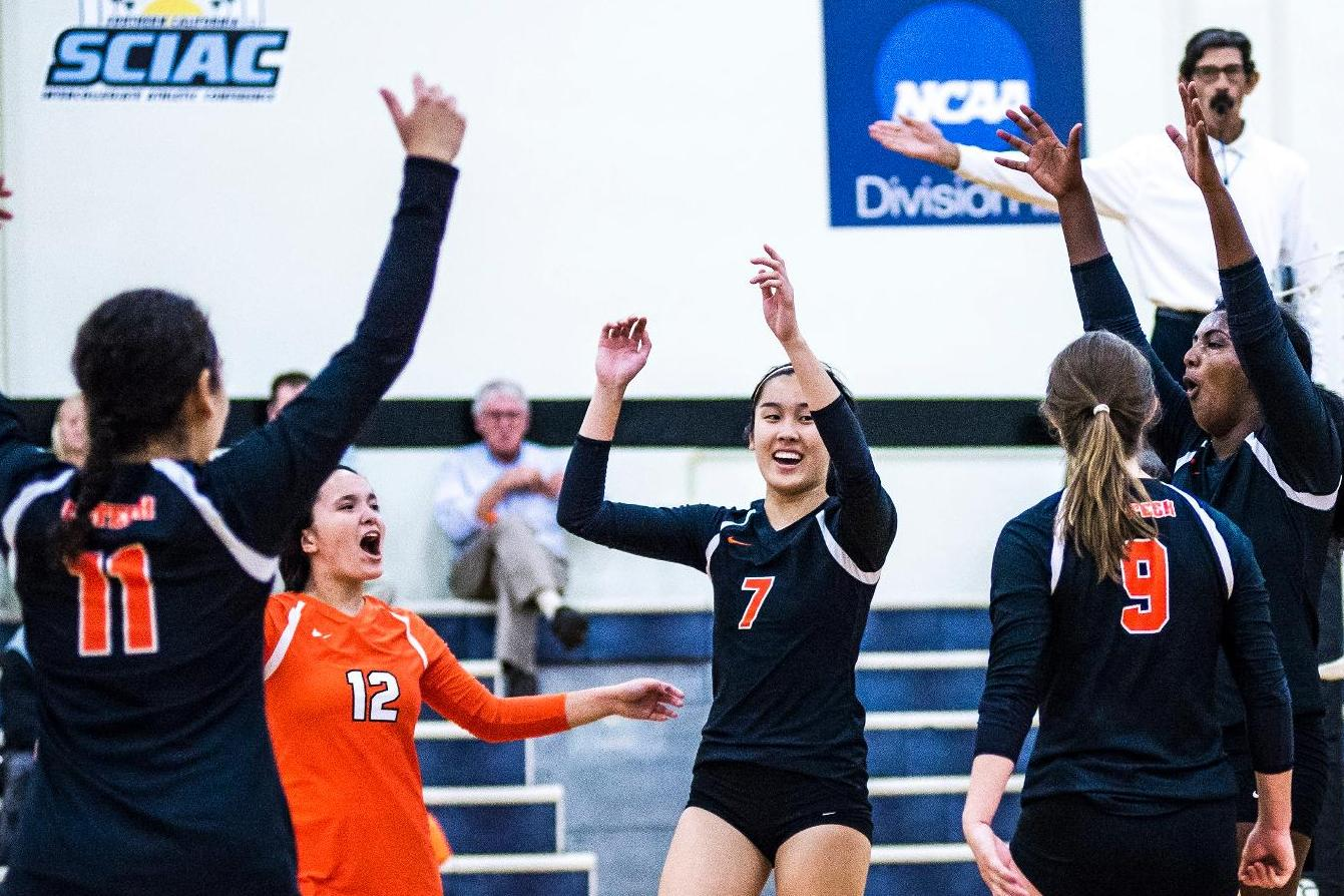 Rookie Trio Fuels Volleyball Win over Mills