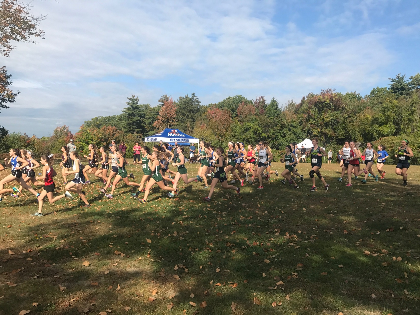 Cross Country races at Runnin' Monks Invitational