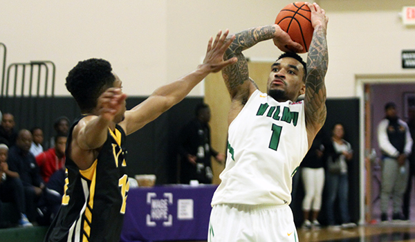 Copyright 2016; Wilmington University. All rights reserved. File photo of Tyaire Ponzo-Meek against Millersville.