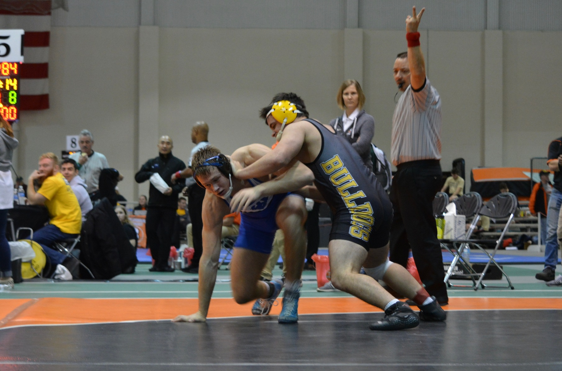 Sophomore Devon Pingel led Adrian at the Ohio Northern Invitational where he placed third at 184 pounds after going 5-1 on Saturday. (Photo provided)