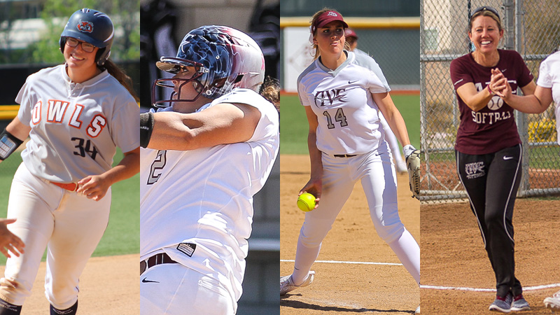 From left to right. Citrus' Jade Nua, and Antelope Valley's Paige Johnson, Morgan Arndt, and Cindy Vargas, all came home with the top honors in the WSC East.