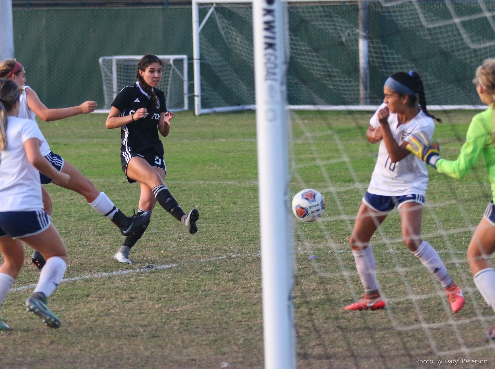 Erika Garcia scores the game-winning goal for the Falcons in the playoffs