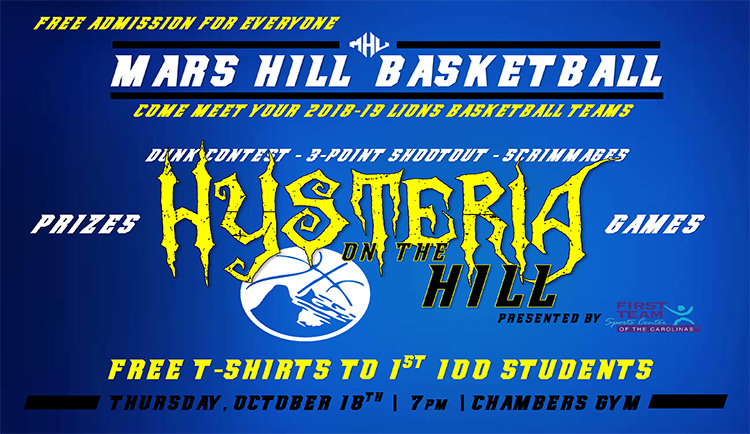Mars Hill basketball to host Hysteria on the Hill