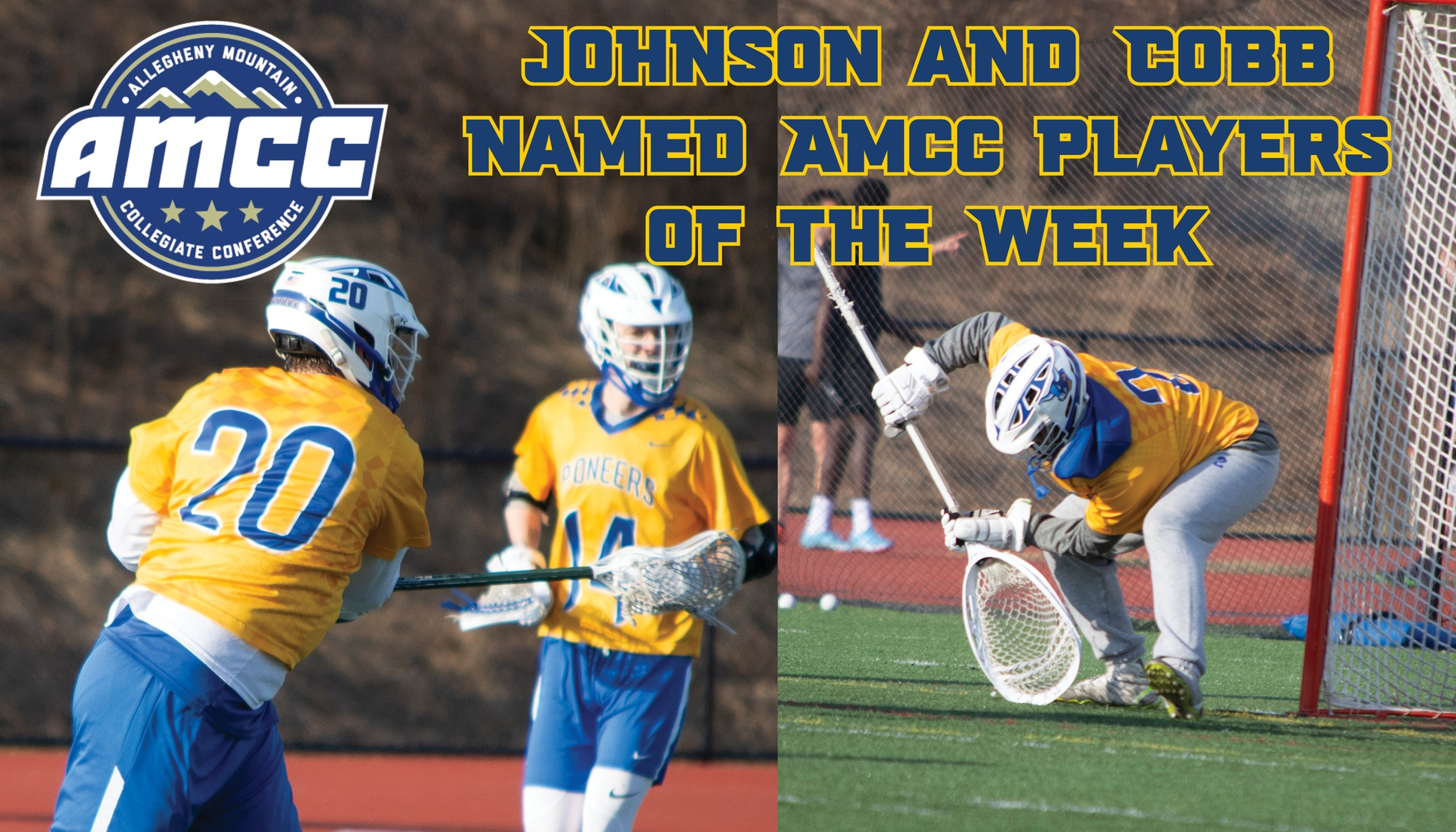 Joe Johnson and Matt Cobb Named AMCC Athletes of the Week
