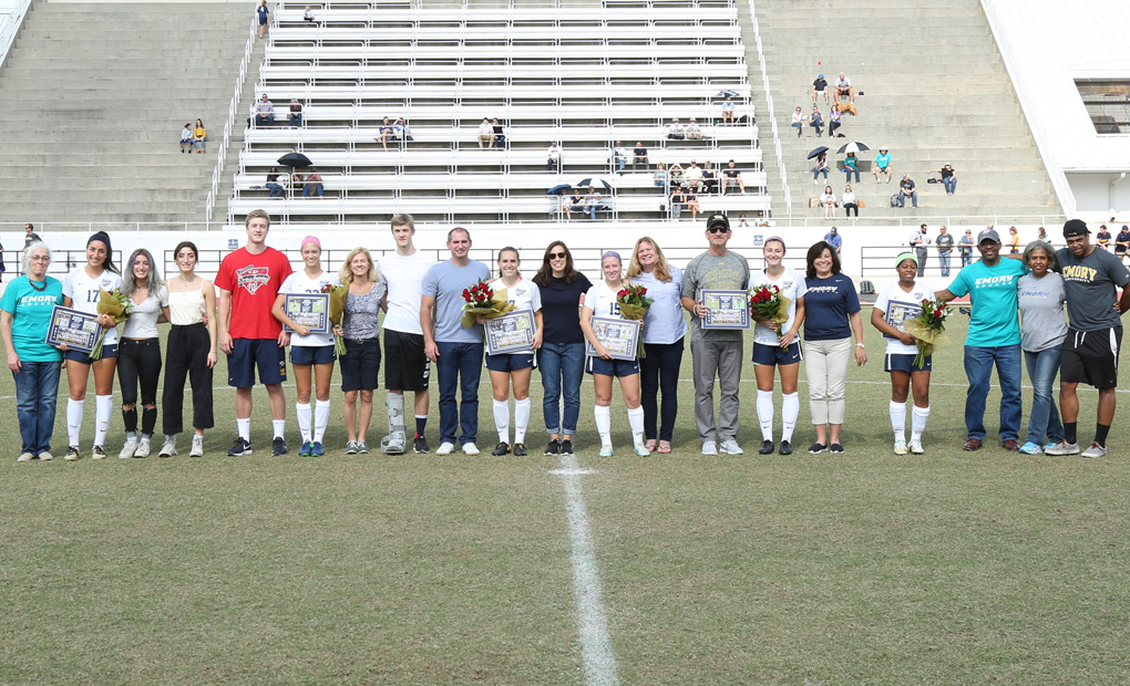 Emory Women's Soccer Celebrates Senior Day with 2-0 Win over Rochester