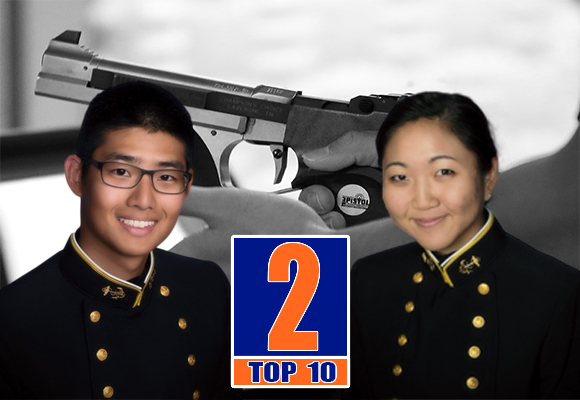 TOP MOMENT #2 – FRESHMEN HELEN OH AND BRIAN KIM WIN PISTOL NATIONAL CHAMPIONSHIPS