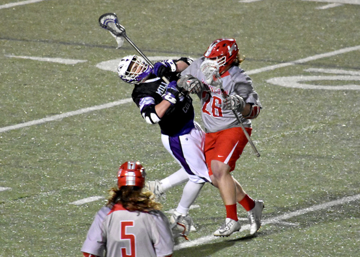 Senior Brandon Scheele had a game-high four goals in Wednesday's 17-6 win over Millsaps. (Photo by Wesley Lyle)