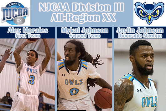 Prince George's Alex Morales, Mykal Johnson And Jaylin Johnson Receive NJCAA All-Region XX Men's Basketball Recognition