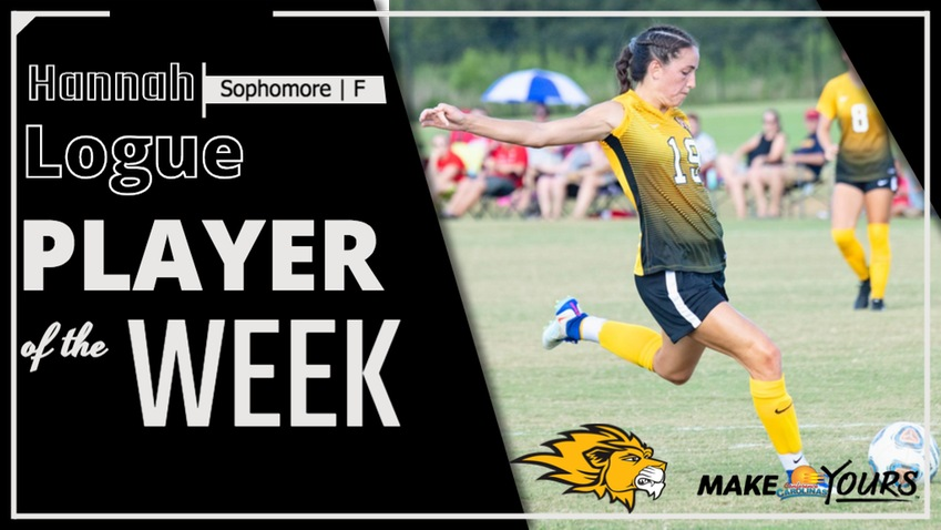 Emmanuel's Logue Named Conference Carolinas Women's Soccer Player of the Week