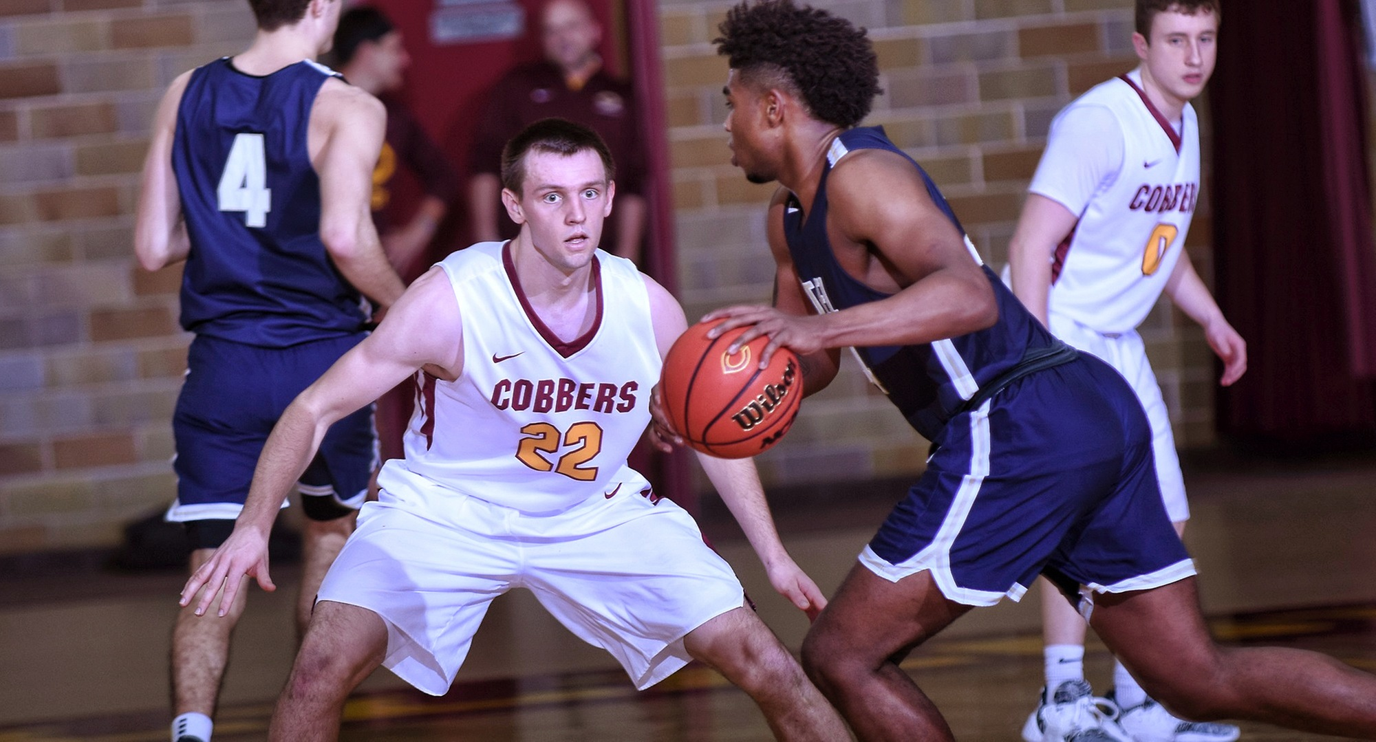 Junior Jacob Fredrickson scored a career-high 15 points in the Cobbers' game with Bethel.