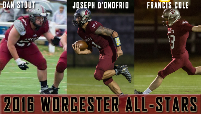 Cole, D'Onofrio, Stout Earn Worcester All-Star Honors