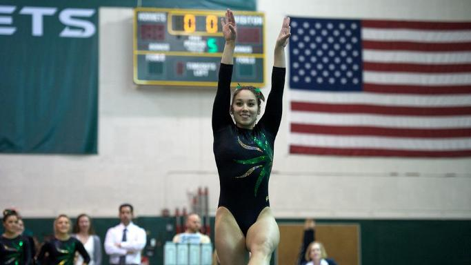 GYMNASTICS PLACES THIRD BEHIND STANFORD AND ARIZONA
