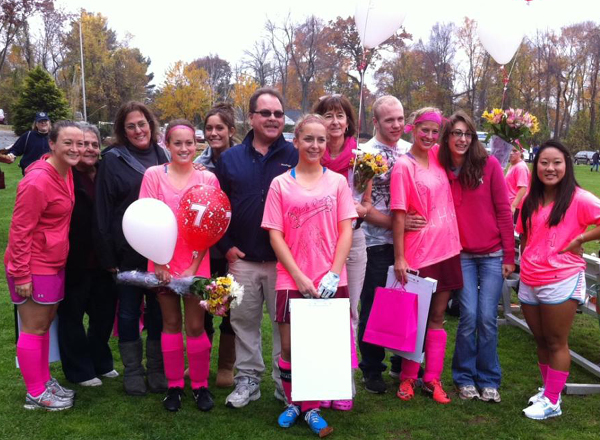 Wildcats Fall 2-1 to Hawks in Pink Out Senior Day Field Hockey Action