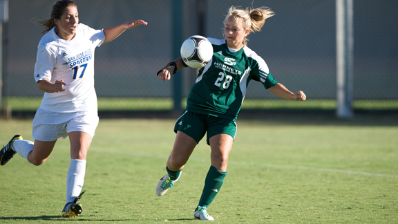 ANDERSON GOAL LEADS WOMEN'S SOCCER PAST SAN JOSE STATE, 1-0