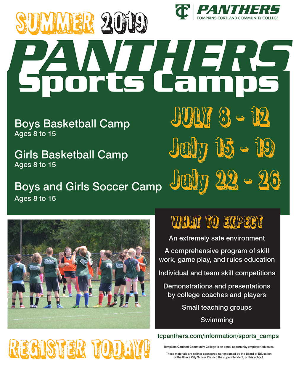 Sports Camp flyer