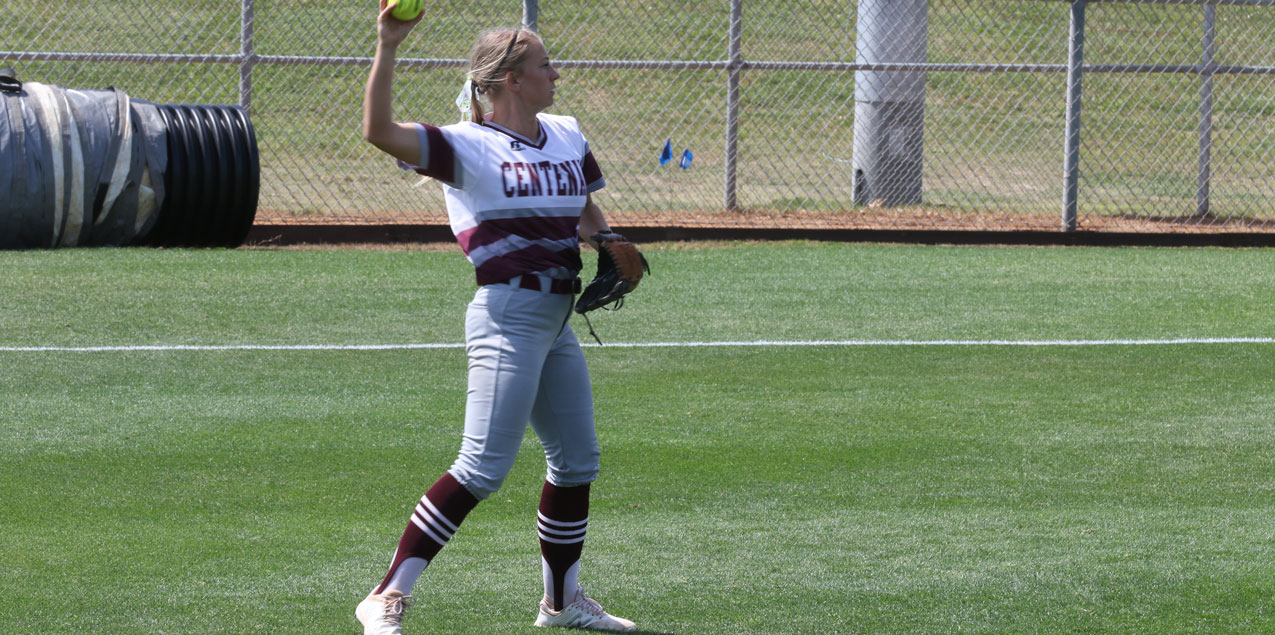 Six Run Inning Powers Centenary Past Schreiner at SCAC Softball Tourney
