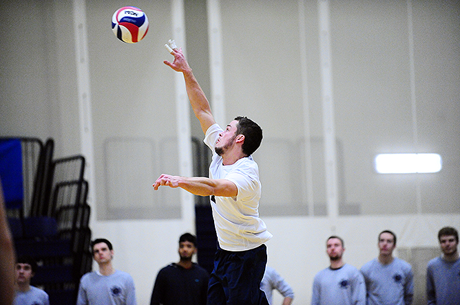 Men's Volleyball Wins Third Straight; Defeats D'Youville