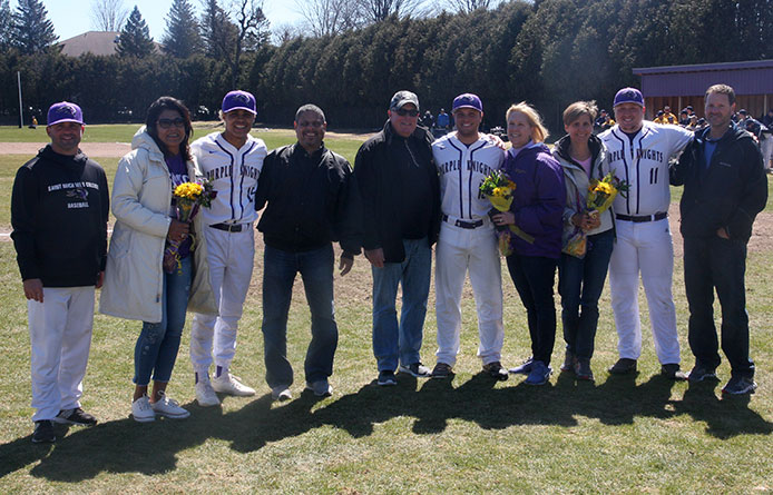 Baseball Falls to Regionally-Ranked Merrimack, 8-5, on Senior Day