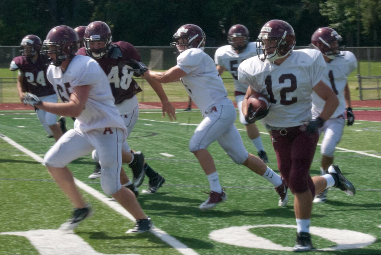 Alma Football team holds 2012 intra-squad scrimmage