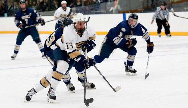 Second Period Surge Too Much for Men's Hockey