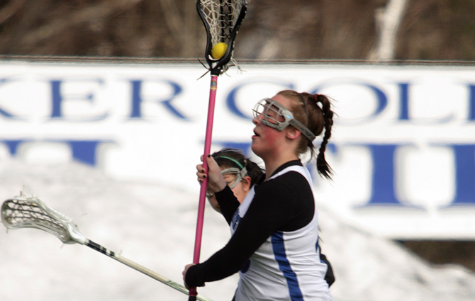 Mossey Nets 200th Goal As Women's Lacrosse Holds Off Buccaneers