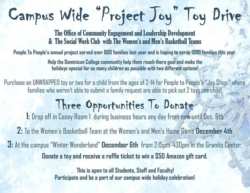 "Campus Wide ""Project Joy"" Toy Drive"