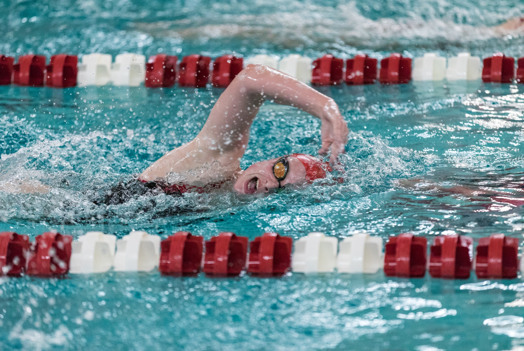 Women's Swimming and Diving Takes Ninth Place in NEWMAC Championship