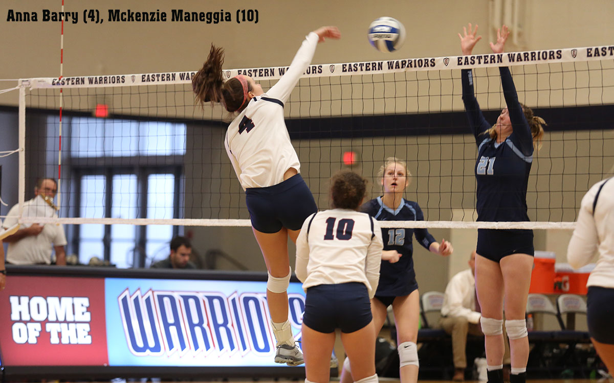 Women's Volleyball: Warriors Overcome 1-0 and 2-1 Set Deficits and Match Point  to Dump Homestanding Trinity in Five Sets