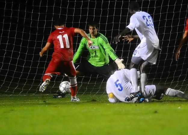Occhialini stopped this attempt in the final minute to preserve the shutout