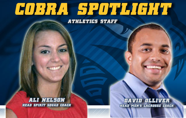 Cobra Spotlight- Ali Nelson & David Olliver, Athletic Staff