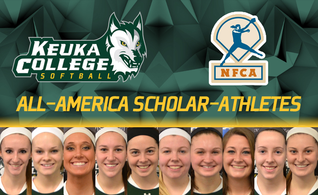 10 Softball Players Earn NFCA Scholar-Athlete