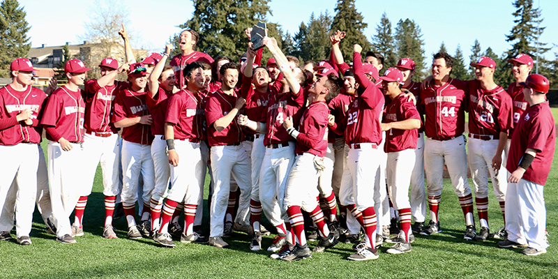 Willamette University Bearcats, 2018 NWC Tournament Champions, Photo courtesy Pacific Lutheran Athletics.