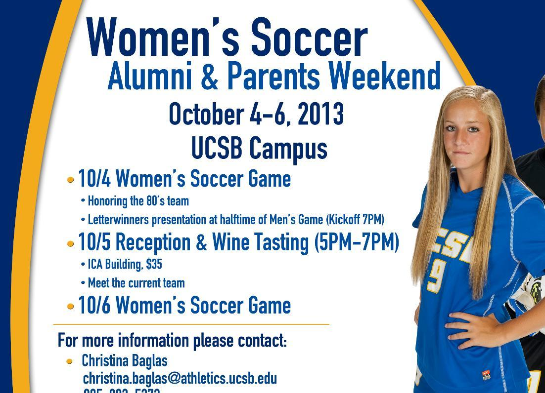 Gauchos Host Alumni, Parents Weekend Oct. 4-6