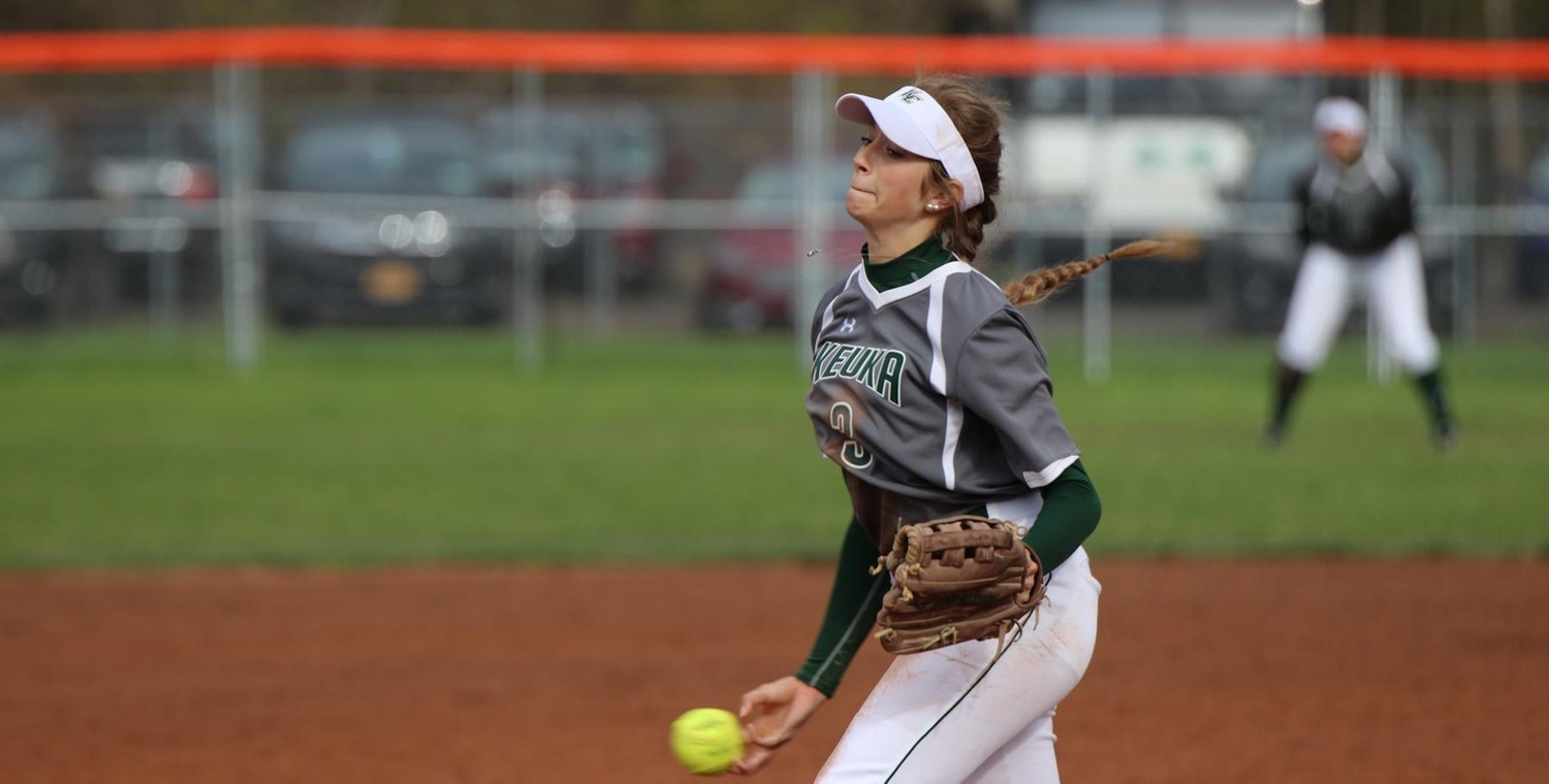 Whitney Tyler (3) got the win pitching for Keuka College on Tuesday