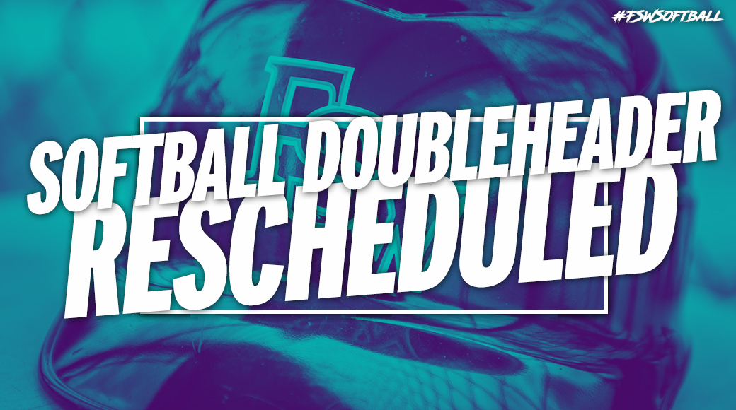 #FSWSoftball Doubleheader At South Florida State Rescheduled For April 13